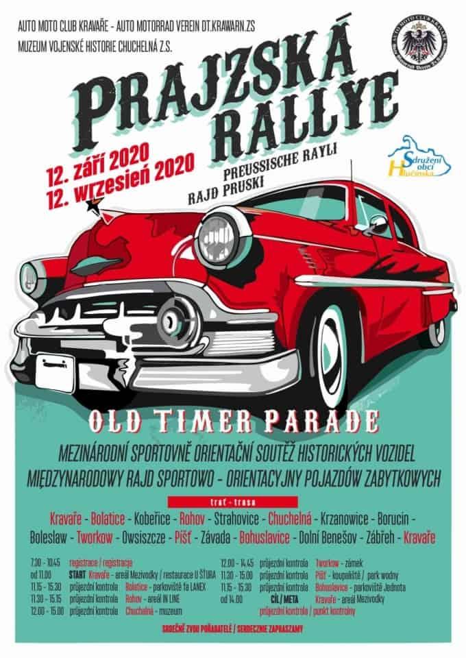 Tegoroczna edycja rajdu Prajzská rallye. Rozgrywki zostaną przeprowadzone 12 września.